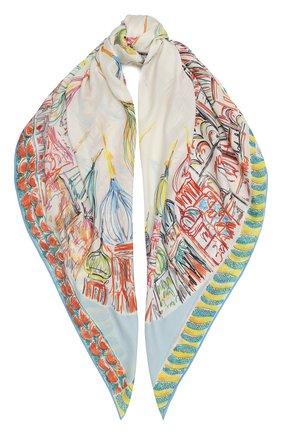 Женский шаль из кашемира и шелка moscow twirl LORO PIANA бежевого цвета, арт. FAL2931 | Фото 1