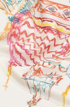 Женский шаль из кашемира и шелка moscow twirl LORO PIANA бежевого цвета, арт. FAL2931 | Фото 2