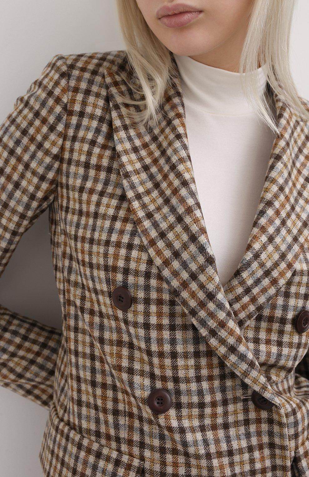 Женский кашемировый жакет LORO PIANA бежевого цвета, арт. FAL3124 | Фото 5