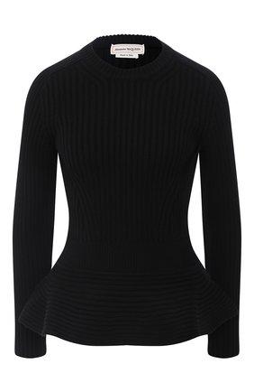 Женский шерстяной свитер ALEXANDER MCQUEEN черного цвета, арт. 633685/Q1AQV | Фото 1