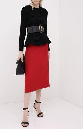 Женский шерстяной свитер ALEXANDER MCQUEEN черного цвета, арт. 633685/Q1AQV | Фото 2