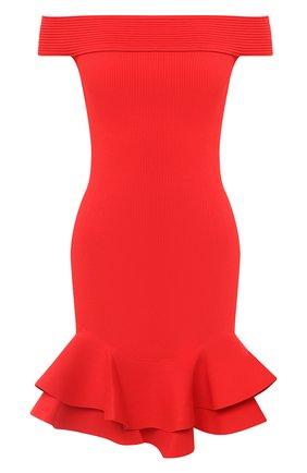 Женское платье из вискозы ALEXANDER MCQUEEN красного цвета, арт. 633641/Q1APM | Фото 1