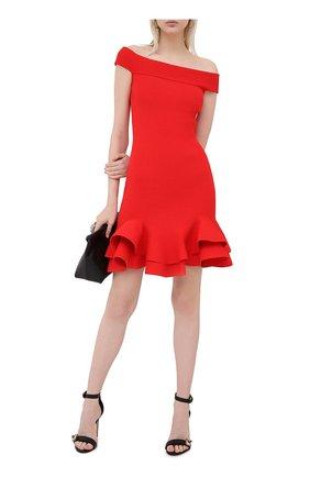 Женское платье из вискозы ALEXANDER MCQUEEN красного цвета, арт. 633641/Q1APM | Фото 2