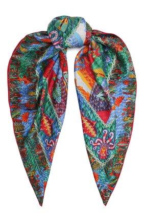 Женский шелковый платок ocean KIRILL OVCHINNIKOV разноцветного цвета, арт. 90\O | Фото 1
