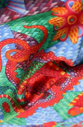 Женский шелковый платок ocean KIRILL OVCHINNIKOV разноцветного цвета, арт. 90\O | Фото 2