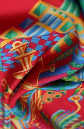 Женский шелковый платок labirint KIRILL OVCHINNIKOV красного цвета, арт. 90\LABr | Фото 2