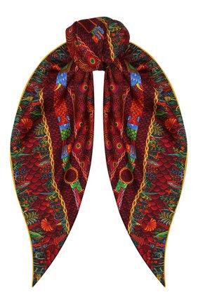 Женский шелковый платок phoenix KIRILL OVCHINNIKOV красного цвета, арт. 90\PHX | Фото 1