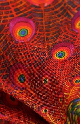 Женский шелковый платок phoenix KIRILL OVCHINNIKOV красного цвета, арт. 90\PHX | Фото 2