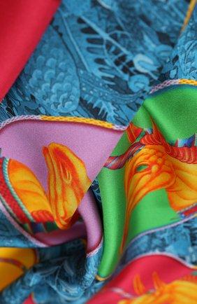 Женский шелковый платок unicorn KIRILL OVCHINNIKOV разноцветного цвета, арт. 90\UN | Фото 2