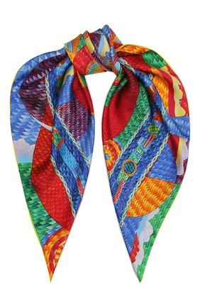 Женский шелковый платок cosmogony KIRILL OVCHINNIKOV разноцветного цвета, арт. 90\COS | Фото 1