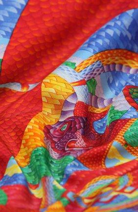 Женский шелковый платок cosmogony KIRILL OVCHINNIKOV разноцветного цвета, арт. 90\COS | Фото 2