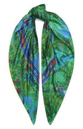 Женский шелковый платок nile KIRILL OVCHINNIKOV зеленого цвета, арт. 135\NIL | Фото 1