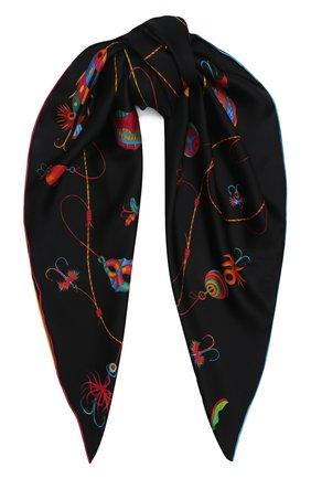 Женский шелковый платок spinner KIRILL OVCHINNIKOV черного цвета, арт. 90\SPIb | Фото 1