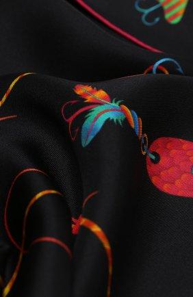 Женский шелковый платок spinner KIRILL OVCHINNIKOV черного цвета, арт. 90\SPIb | Фото 2
