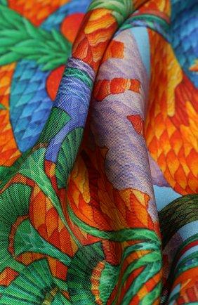 Женский шелковый платок oasis KIRILL OVCHINNIKOV оранжевого цвета, арт. 90\OAS | Фото 2