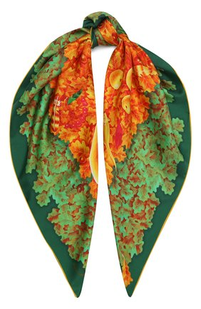 Женский шелковый платок autumn KIRILL OVCHINNIKOV оранжевого цвета, арт. 90\AUT | Фото 1