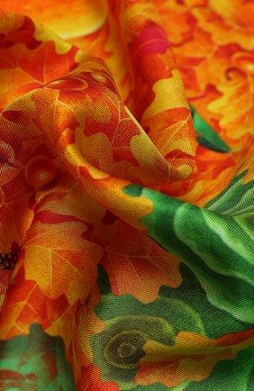 Женский шелковый платок autumn KIRILL OVCHINNIKOV оранжевого цвета, арт. 90\AUT | Фото 2