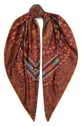 Женский шелковый платок phoenix KIRILL OVCHINNIKOV коричневого цвета, арт. 135\PHX | Фото 1