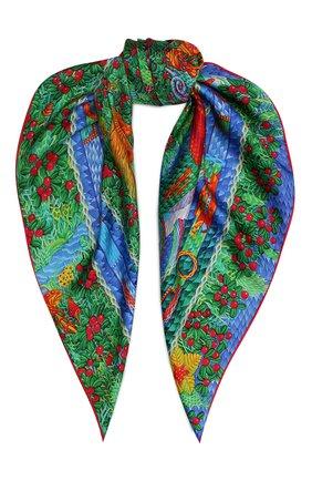 Женский шелковый платок kalevala KIRILL OVCHINNIKOV зеленого цвета, арт. 9\KLV | Фото 1