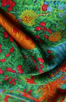 Женский шелковый платок kalevala KIRILL OVCHINNIKOV зеленого цвета, арт. 9\KLV | Фото 2