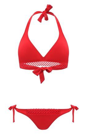 Женский раздельный купальник ANTIGEL красного цвета, арт. EBA2750-EBA0150 | Фото 1