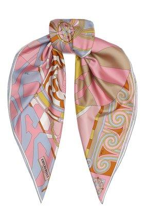 Женский шелковый платок EMILIO PUCCI розового цвета, арт. 0RGB22/0RW22 | Фото 1