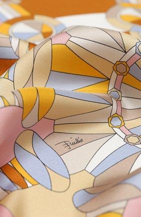 Женский шелковый платок EMILIO PUCCI желтого цвета, арт. 0RGB42/0RB42 | Фото 2