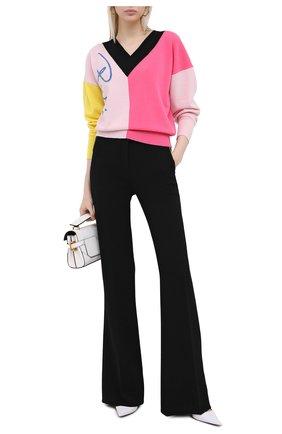 Женский шерстяной пуловер EMILIO PUCCI разноцветного цвета, арт. 0RKM80/0R968   Фото 2