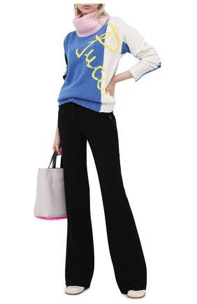 Женский шерстяной свитер EMILIO PUCCI голубого цвета, арт. 0RKM85/0R968   Фото 2