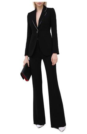 Женский шерстяной жакет EMILIO PUCCI черного цвета, арт. 0RRB31/0R610 | Фото 2