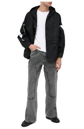 Мужские кожаные кеды valentino garavani backnet VALENTINO черного цвета, арт. UY2S0C04/MMK | Фото 2
