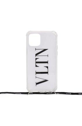 Мужской чехол valentino garavani для iphone 11 pro VALENTINO прозрачного цвета, арт. UY2P0R71/EHL   Фото 1