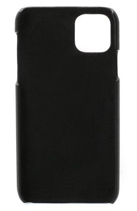 Мужской кожаный чехол valentino garavani для iphone 11 pro max VALENTINO черного цвета, арт. UY2P0R56/FFL   Фото 2