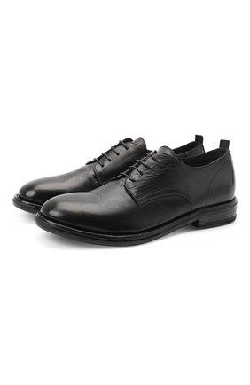 Мужской кожаные дерби MOMA черного цвета, арт. 2AW107-T0 | Фото 1
