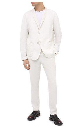 Мужской кожаные дерби MOMA бордового цвета, арт. 2AW149-NE | Фото 2