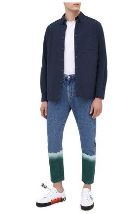 Мужская куртка-рубашка ASPESI синего цвета, арт. W0 I 7I29 9972   Фото 2