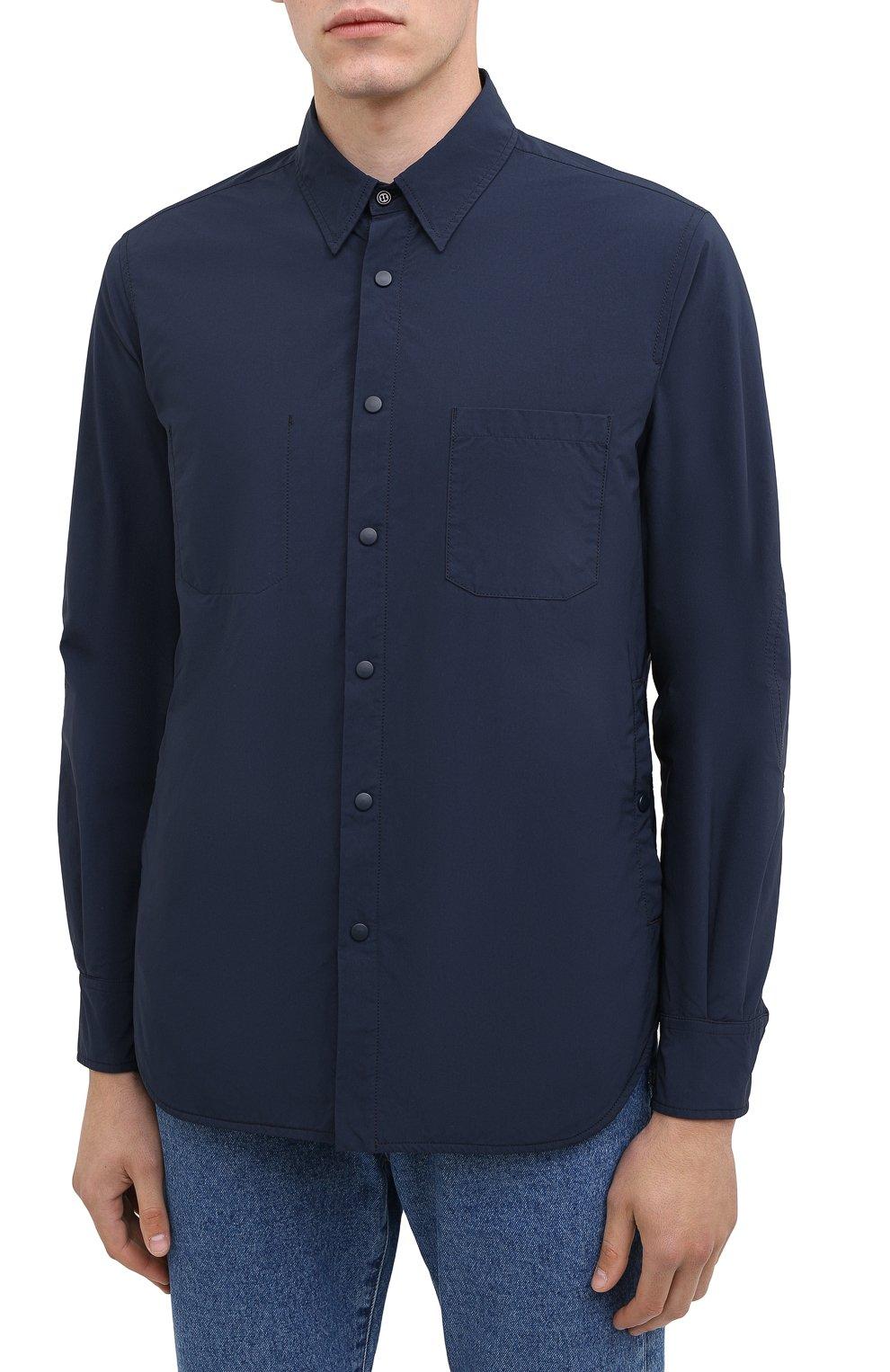 Мужская куртка-рубашка ASPESI синего цвета, арт. W0 I 7I29 9972 | Фото 3