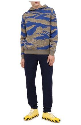 Мужской хлопковые брюки-карго ASPESI темно-синего цвета, арт. W0 A CP31 E031 | Фото 2