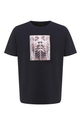Мужская хлопковая футболка LIMITATO темно-синего цвета, арт. CHAINS/T-SHIRT RELAX | Фото 1