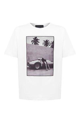 Мужская хлопковая футболка LIMITATO белого цвета, арт. HEADING S0UTH/T-SHIRT RELAX | Фото 1