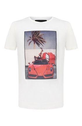 Мужская хлопковая футболка LIMITATO белого цвета, арт. HEEL ME/T-SHIRT REGULAR | Фото 1