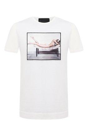 Мужская хлопковая футболка LIMITATO белого цвета, арт. LAY 0VER/T-SHIRT REGULAR | Фото 1