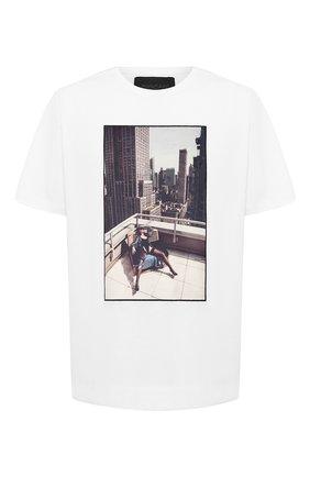 Мужская хлопковая футболка LIMITATO белого цвета, арт. N0 STRINGS/T-SHIRT RELAX | Фото 1