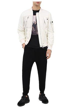 Мужская хлопковая футболка LIMITATO черного цвета, арт. SAINT/T-SHIRT RELAX | Фото 2