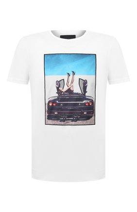 Мужская хлопковая футболка LIMITATO белого цвета, арт. HIGH HEELS/T-SHIRT REGULAR | Фото 1