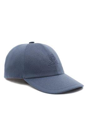 Мужской кашемировая бейсболка LORO PIANA синего цвета, арт. FAF8520 | Фото 1