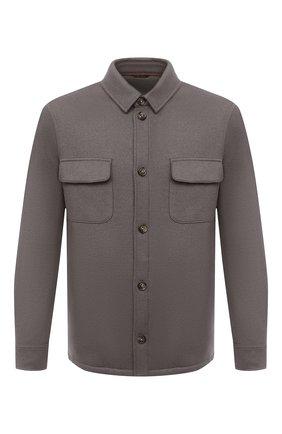 Мужская кашемировая куртка LORO PIANA серого цвета, арт. FAL3156 | Фото 1