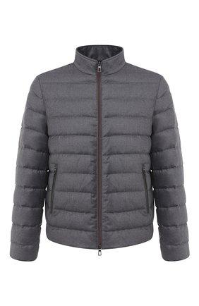 Мужская пуховая куртка LORO PIANA серого цвета, арт. FAL2821 | Фото 1