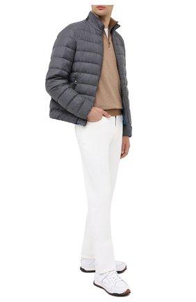 Мужская пуховая куртка LORO PIANA серого цвета, арт. FAL2821 | Фото 2