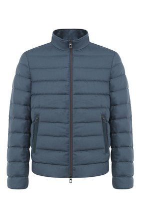 Мужская пуховая куртка LORO PIANA бирюзового цвета, арт. FAL2821 | Фото 1